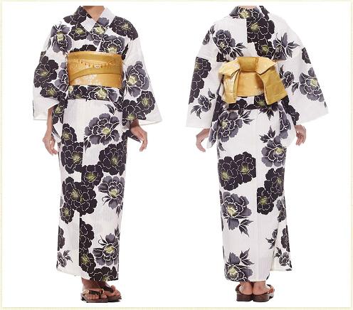 Kansai.yukata 浴衣セット ホワイト イメージ01