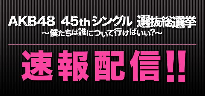 第8回AKB48選抜総選挙 速報発表配信中