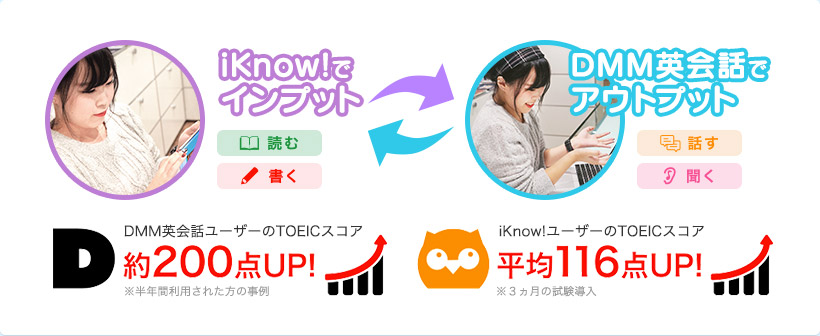 iKnow!でインプット⇔DMM英会話でアウトプット