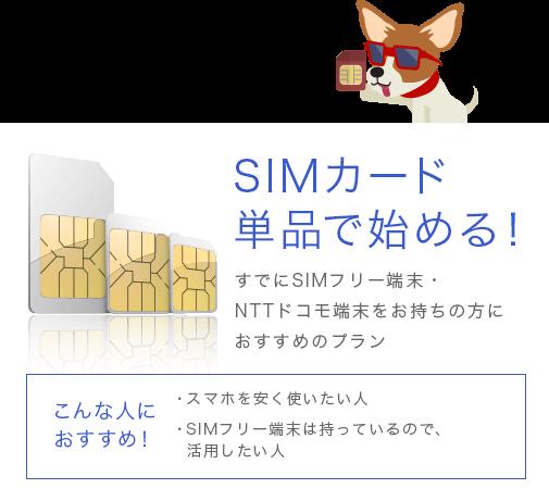 SIMカード単品で始める!