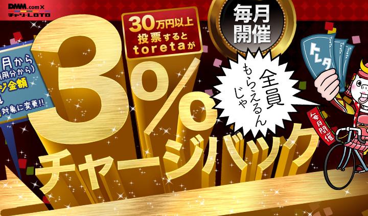 30万円以上投票するとtoretaが3%チャージバック!毎月開催!全員もらえる