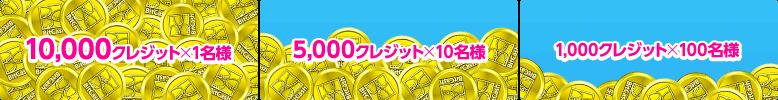 最大1万円分当たる!