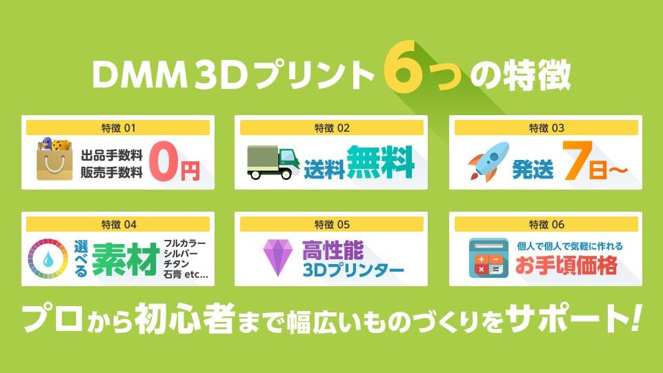DMM 3Dプリント6つの特徴