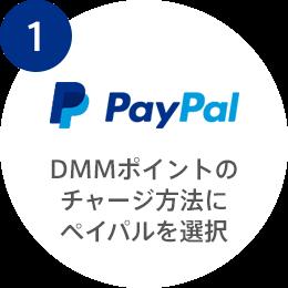 1:DMMポイントのチャージ方法にペイパルを選択