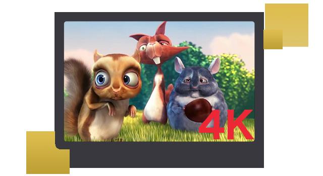 4Kテレビでの視聴に最適