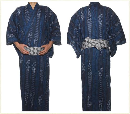 R-KIKUCHI 浴衣セット ネイビー イメージ01