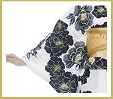 Kansai.yukata 浴衣セット ホワイト イメージ02