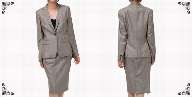 マックスマーラ スカートスーツ ブラウン