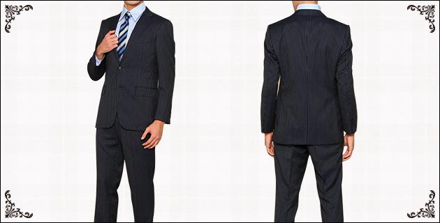 ユナイテッドアローズ ストライプ スーツ セット ネイビー