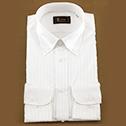 早稲田屋 シャドーストライプ Yシャツ ホワイト