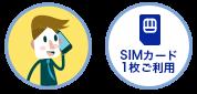 SIMカード1枚ご利用