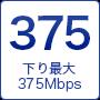 下り最大375Mbps