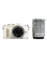 【オリンパス/ミラーレス一眼カメラ】1605万画素 PEN E-PL8 EZ ダブルズームキット ホワイト