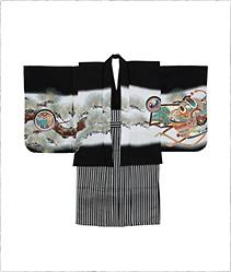 【キッズ】七五三/節句 3才 男児 袴セット 金色 雄々しい龍 ブラック
