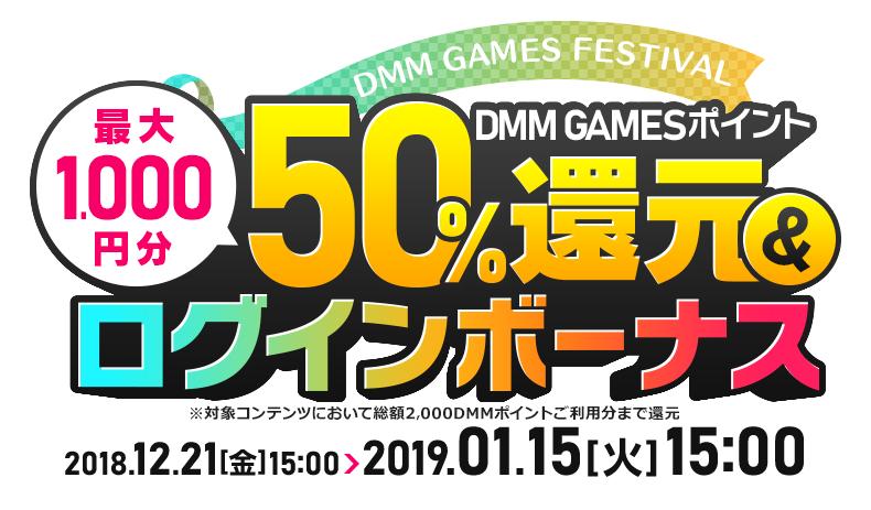 DMM GAMES festival - ポイント還元&ログインボーナス